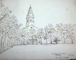 Sketch: Hackney New Church, Middlesex, 10 July 1850