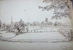 Sketch: Worcester from St John's, 10 August 1850