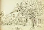 Sketch: Mrs Menzies and Mrs Homer's Houses, 20 August 1850