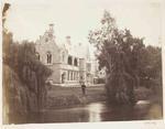 Photograph: Mr Stuart D Mears beside the Provincial Buildings, 4 November 1869