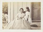Photograph: Mrs Percy Cox with Little Girl on Porch