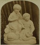 Photograph: Two Children and a Cat, Sculpture