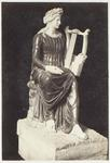 Photograph: Seated Woman with Lyre Sculpture, Museum of Naples