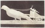 Photograph: Pidgeon Drawing Chariot with Cricket Illustration, Pompeii Frieze
