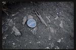 35mm Slide: Scissors, Fyffe Site Archaeological Excavation (S49/46)