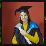 Negative: Miss A. Greenaway graduation