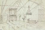 Sketch: Interior of the Temporary Church