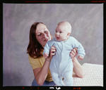 Negative: Mrs Beavan and Baby