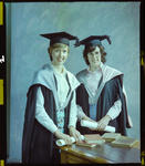 Negative: Miss J. Alford and Unnamed Friend Graduates