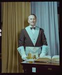 Negative: Worshipful Master W. D. Sloane Freemason Portrait