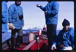 Slide: Men and Dinghy, Ross Sea