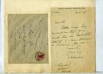 Letter and envelope: Shackleton