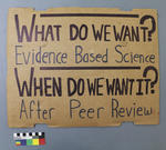 Protest Sign: Because Science