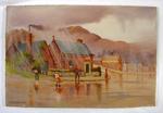 Oil Painting: Caught in the Rain at Lyttelton