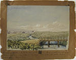 Painting: The Bridge over the Avon in the Market Place at Christchurch