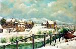 Painting: Oxford Terrace, Christchurch, 1862