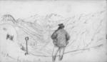 Pencil Drawing: Top of Brownings Pass Looking South