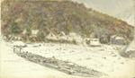 Watercolour Painting: Survey Camp, Browning's Pass
