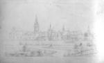 Photograph: Mountfort Sketch of Canterbury Provincial Council Buildings , c 1860s-70s