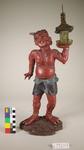 Wooden devil figure